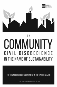 On Community Civil Disobedience in the Name of Sustainability: The Community Rights Movement in the United States (e-Book)